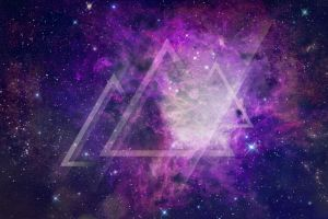 triangle earth purple