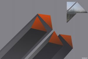 triangle geometry simple background abstract