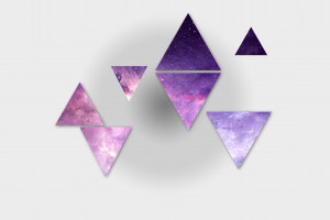 triangle purple galaxy