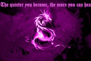 typography dragon quote