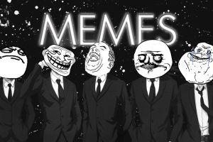 typography memes monochrome face