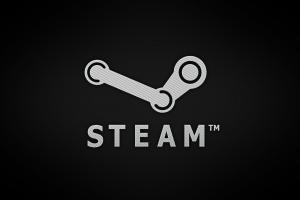 typography steam (software) gradient logo