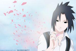 uchiha sasuke petals naruto shippuuden