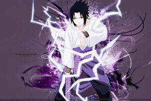 uchiha sasuke purple background anime boys anime naruto shippuuden red eyes