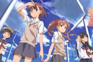 uiharu kazari anime girls shirai kuroko misaka mikoto saten ruiko anime to aru majutsu no index