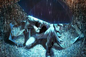 umbrella rain anime