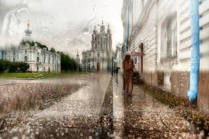 umbrella rain city