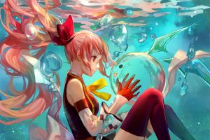 underwater anime girls anime