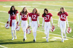 uniform sports jerseys doutzen kroes american football behati prinsloo lily aldridge helmet model sports adriana lima women group of women candice swanepoel