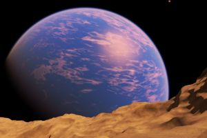 universe planet asteroid digital art space