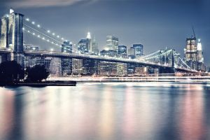 urban new york city architecture photography skyscraper brooklyn bridge bridge cityscape building city reflection water