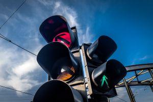 urban red city arrows (design) traffic lights