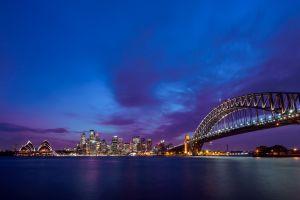 urban sydney bridge sea