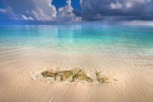 vacation water horizon beach tropical summer nature maldives sea clouds landscape