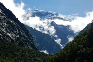 valley india clouds himalayas