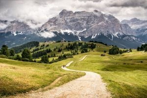 valley mountains nature hills landscape dolomites (mountains)