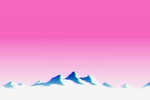 vaporwave landscape glitch art mountains