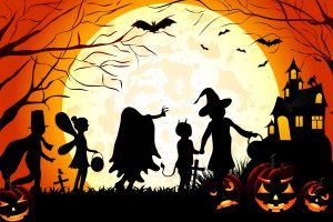 vector art halloween silhouette