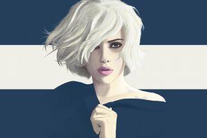 vector juicy lips vexel scarlett johansson portrait yuschav arly