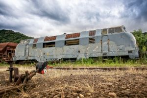 vehicle abandoned train