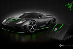 vehicle black cars razer laptop car