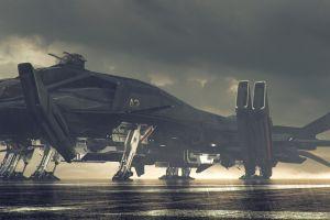 vehicle retaliator star citizen pc gaming render futuristic