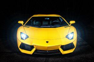 vehicle yellow cars car