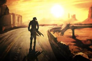 video game art fallout: new vegas apocalyptic video games pc gaming road