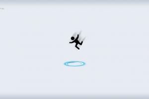video game art portal (game) video games minimalism