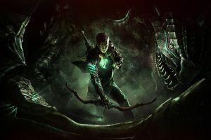 video game art scalebound video games bow dark
