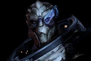video games artwork mass effect garrus vakarian