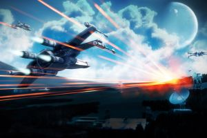 video games battlefield 3 spaceship star wars science fiction x-wing