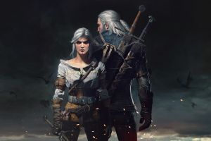 video games cirilla fiona elen riannon the witcher 3: wild hunt geralt of rivia fantasy girl artwork the witcher