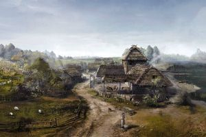 video games concept art the witcher the witcher 3: wild hunt velen