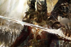 video games fantasy art knight sword concept art army legend of the cryptids warrior