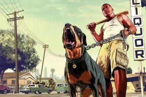 video games grand theft auto v dog rottweiler
