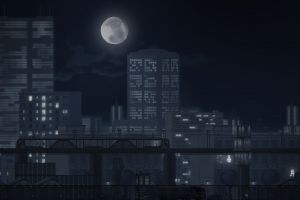 video games moon cityscape gunpoint video game art