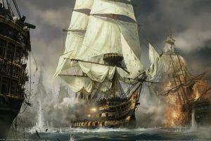 video games napoleon: total war concept art sailing ship ship war
