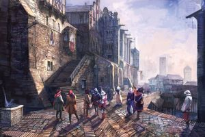 video games novigrad the witcher the witcher 3: wild hunt concept art
