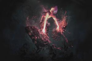 video games pink black riot games vi (league of legends) league of legends dark anime summoner