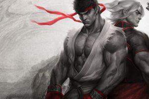 video games ryu (street fighter) street fighter artwork ken (street fighter) street fighter v