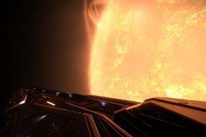 video games science fiction elite: dangerous space sun