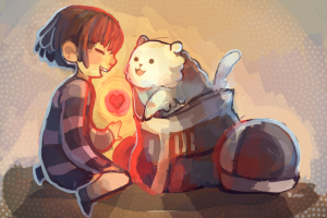 video games undertale frisk video game art
