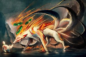 video games video game art okami anime