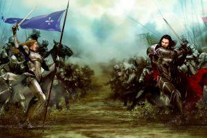 video games war knight concept art