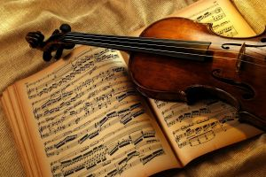 violin musical instrument musical notes music