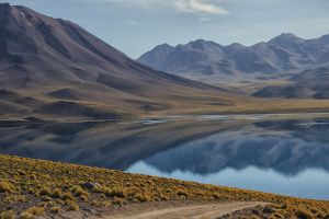 volcano chile lake mountains landscape andes