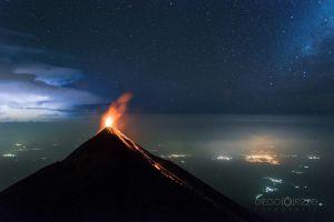 volcano space universe stars