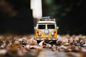vw bus toys leaves macro volkswagen combi