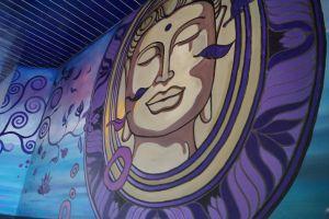 wall graffiti buddha